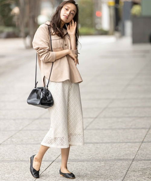 [12Twelve Agenda] スクエアレースタイトスカート