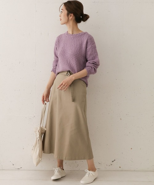 [URBAN RESEARCH DOORS] ベルト付Aラインスカート