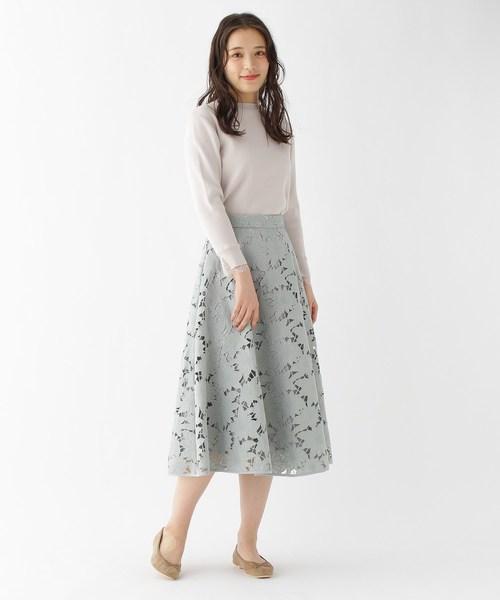 [AG by aquagirl] 【洗える】クラフトカットレーススカート