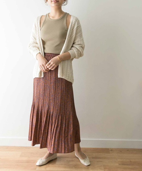 [URBAN RESEARCH] ニュアンスプリーツフラワードットスカート