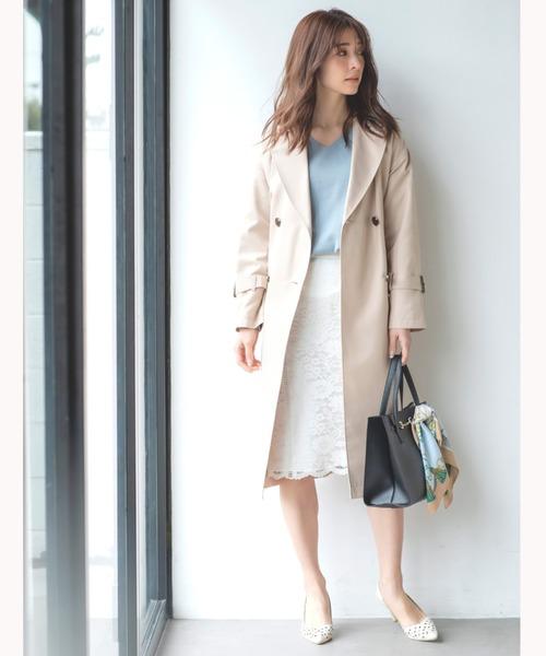 [MEW'S REFINED CLOTHES] ラインレースタイトスカート