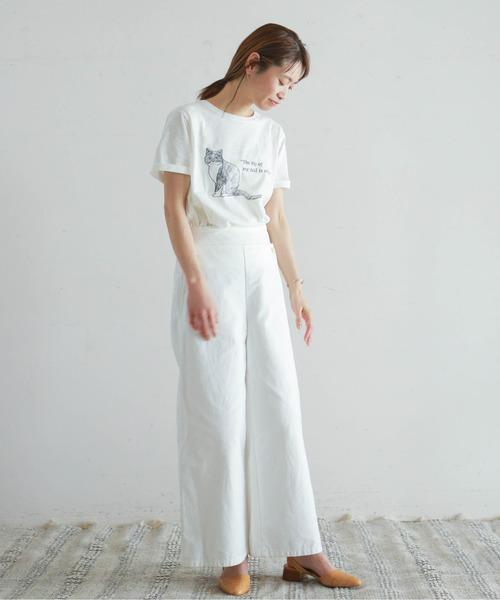 [NOMBRE IMPAIR] CATプリント 半袖Tシャツ