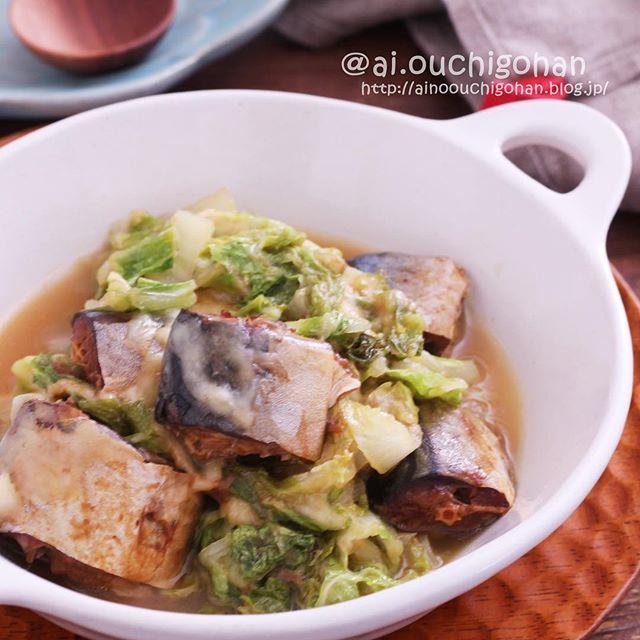 魚の缶詰で簡単に!白菜とさばの味噌チーズ蒸し