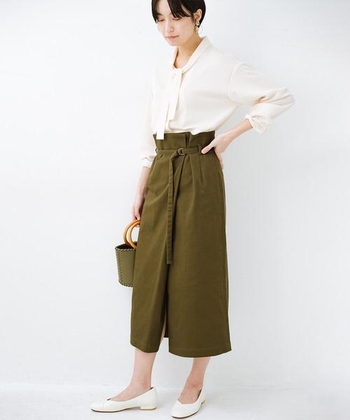 [haco!] 露出せずとも女っぽい すっきりシルエットが自慢のシンプルタイトスカート