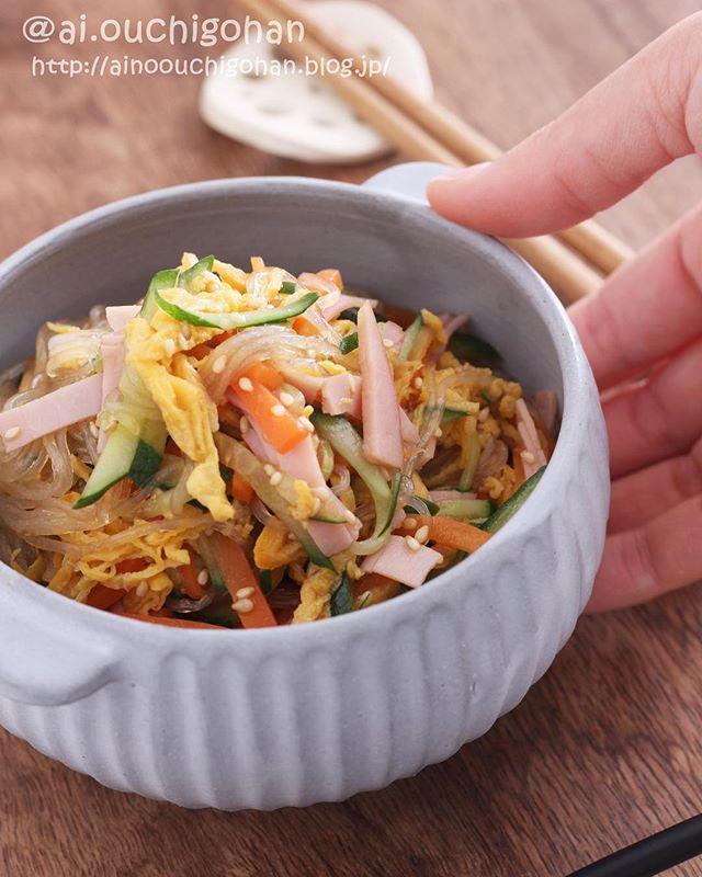 簡単に作れる人気の料理!具沢山な春雨サラダ