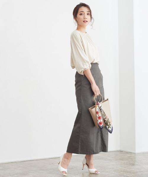 [Pierrot] チノロングタイトスカート