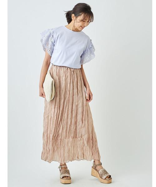 [tocco closet] レーススリーブカットTシャツ