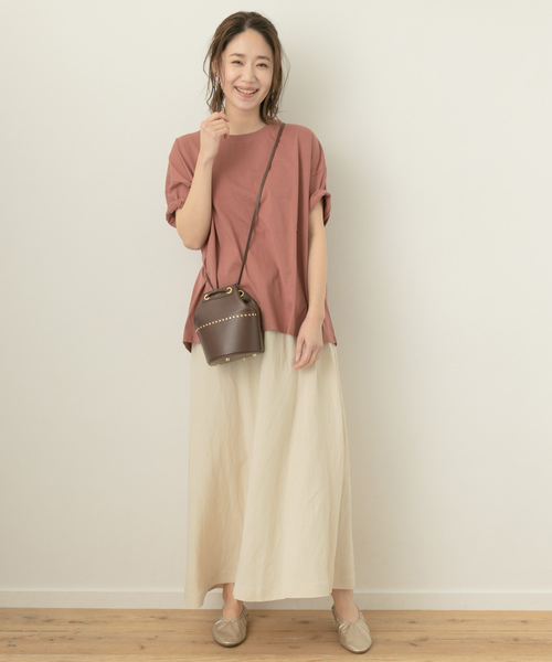 [URBAN RESEARCH ROSSO WOMEN] F by ROSSO リネンマキシフレアスカート
