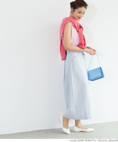 サマーカーデ×フロント釦スカート