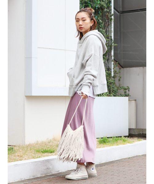 [Ungrid] ヴィンテージサテンフィットマキシスカート