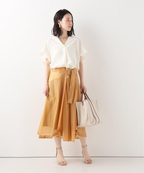 [Spick & Span] 【RITO】 シアーギャザースカート