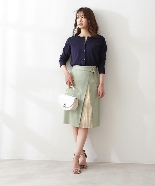 [PROPORTION BODY DRESSING] ドットサイドプリーツタイトスカート