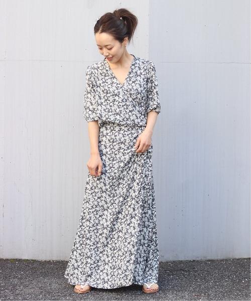 [Plage] olive wrap ドレス◆