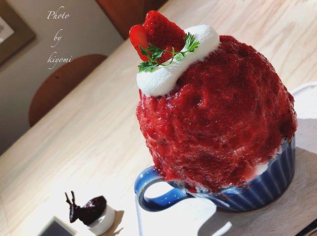 アイデアレシピ!いちごのエスプーマかき氷