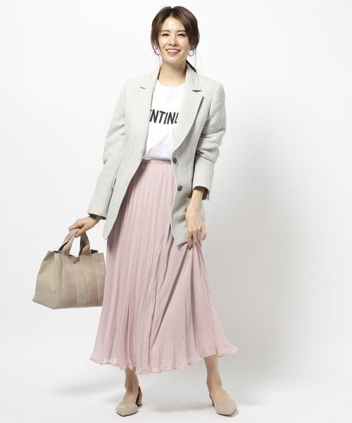 [BABYLONE] レイヤードプリーツスカート