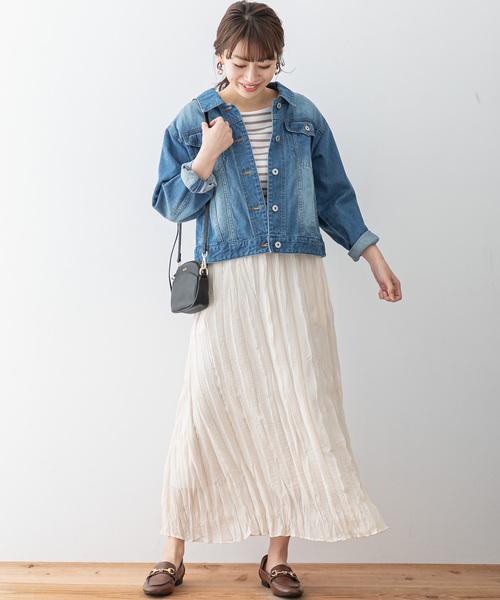 [URBAN RESEARCH] 楊柳シフォンプリーツマキシスカート