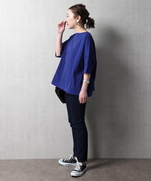 [FREAK'S STORE] 【WEB限定】半袖バスクTシャツ(ワイドシルエット)