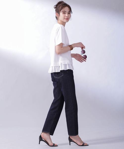 [nano・universe] MUVEIL WORK×AntiSoaked切替Tシャツ