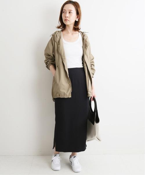 ファッションアウター×スリットスカート