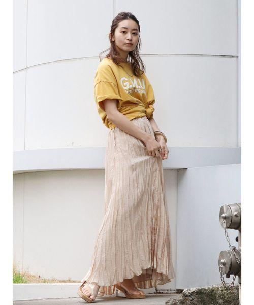 [Ungrid] ランダムシワプリーツマキシスカート