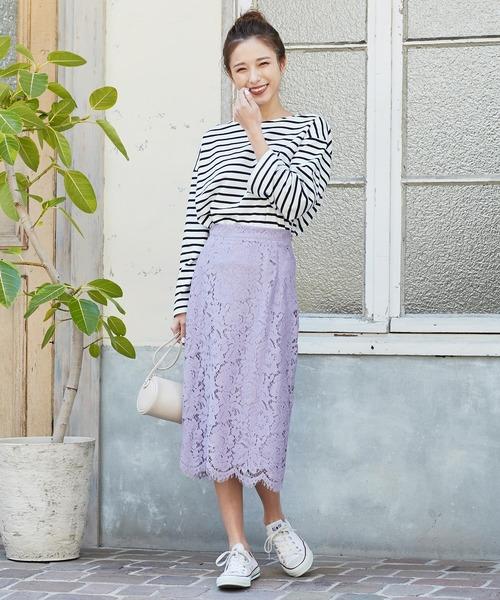[kobelettuce] レースロングタイトスカート【セットアップOK】