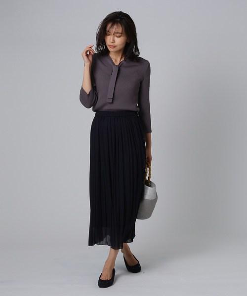 [UNTITLED] 【洗える】シフォンプリーツスカート