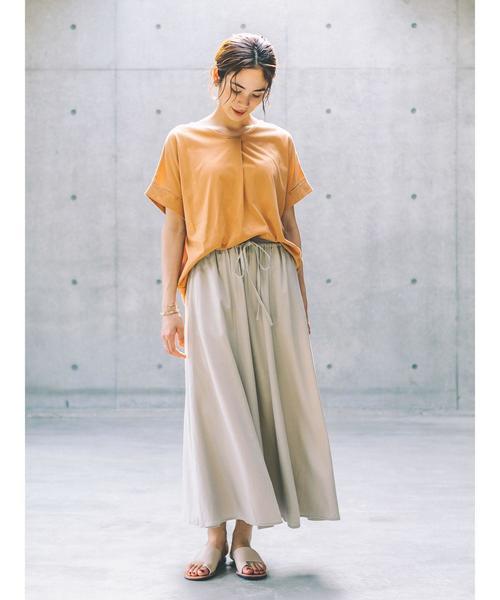 [koe] リネンマキシスカート*