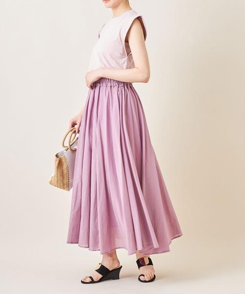 [tocco closet] ギャザーフレアコットンスカート