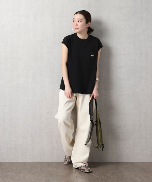 [FREAK'S STORE] 【WEB限定】Danton/ダントン ノースリーブポケットTシャツ