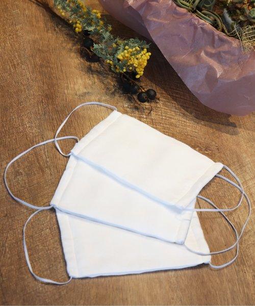 [kana] 日本製 洗って使える ガーゼ 6枚重ね マスク 3枚セット 今治産ガーゼ使用