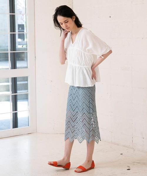 [210nouve] レースタイトスカート