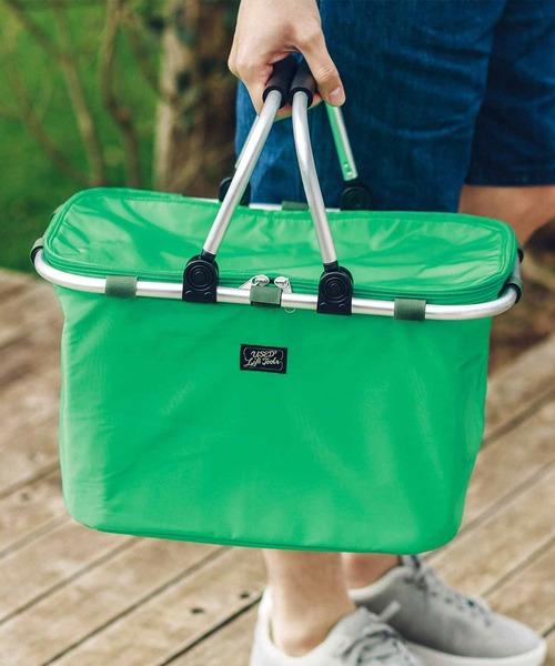 安定感抜群のバスケット型保冷バッグ