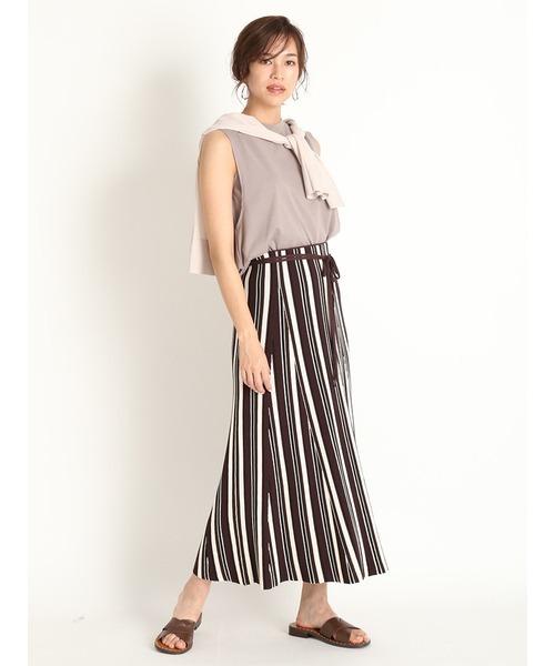[Mila Owen] マルチカラーリップルニットスカート