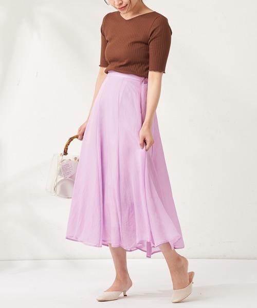 [natural couture] お上品8枚接ぎカラースカート
