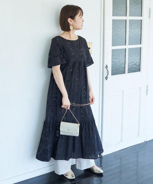 [ROPE' PICNIC] 【WEB限定】刺繍レースワンピース