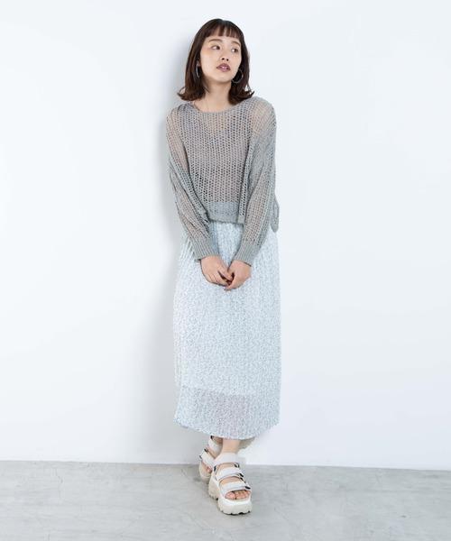 [WEGO] WEGO/シアープリーツロングスカート
