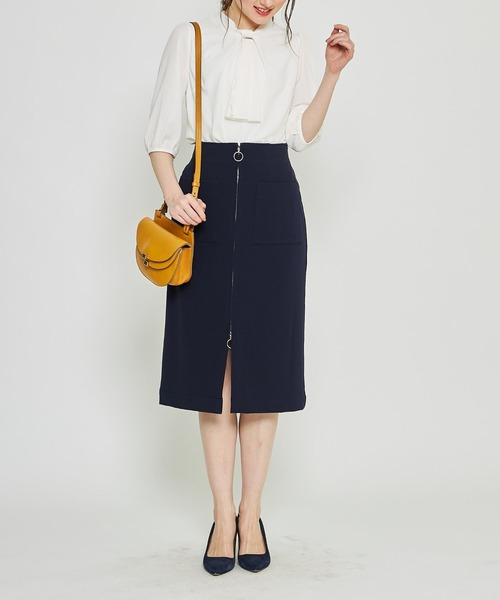 [tocco closet] ポケット付きフープジップタイトスカート