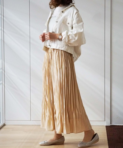 [GeeRA] 【WEB限定】ランダムプリーツスカート