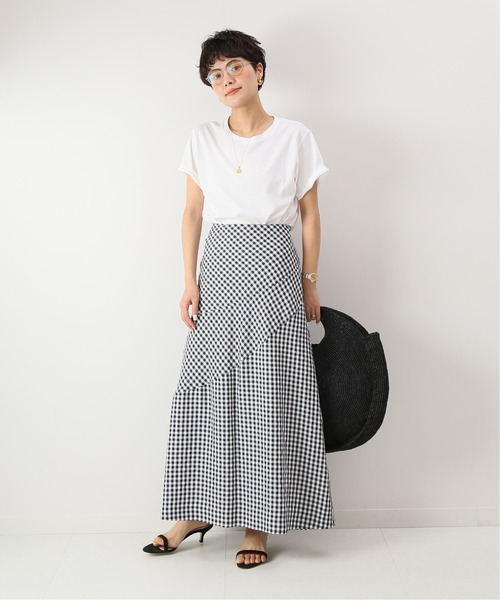 [Spick & Span] ギンガムチェックハギフレアスカート◆