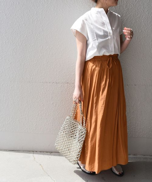 [SHIPS for women] SHIPS any:ドロストリングギャザースカート◇