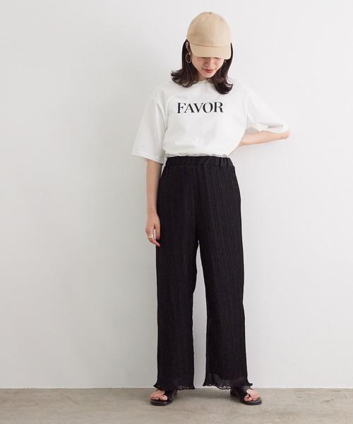 [ViS] 【WEB限定】裾メロウプリーツパンツ