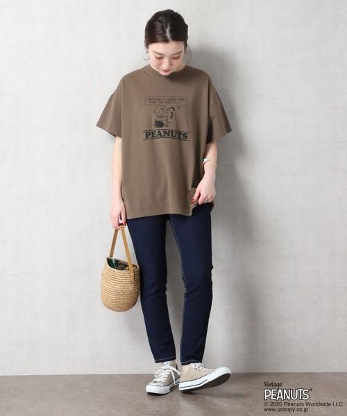 [FREAK'S STORE] 【WEB限定】PEANUTS/ピーナッツ 別注スヌーピープリントTシャツ