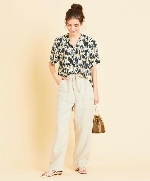 [BEAUTY&YOUTH UNITED ARROWS] 【別注】<TOWN>プリントオープンカラーシャツ