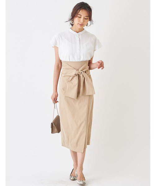 [tocco closet] フロントリボンラップタイトスカート