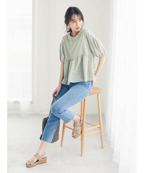[Green Parks] ・【ELENCARE DUE】 刺繍レースブラウス*★