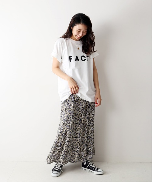 [JOURNAL STANDARD] 【POET MEETS DUBWISE】FACT T-shirt:カットソー