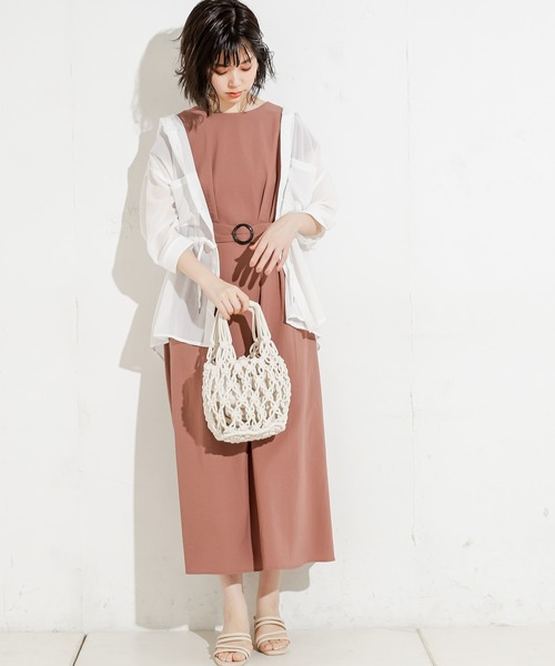 [natural couture] フード付きシアーシャツ