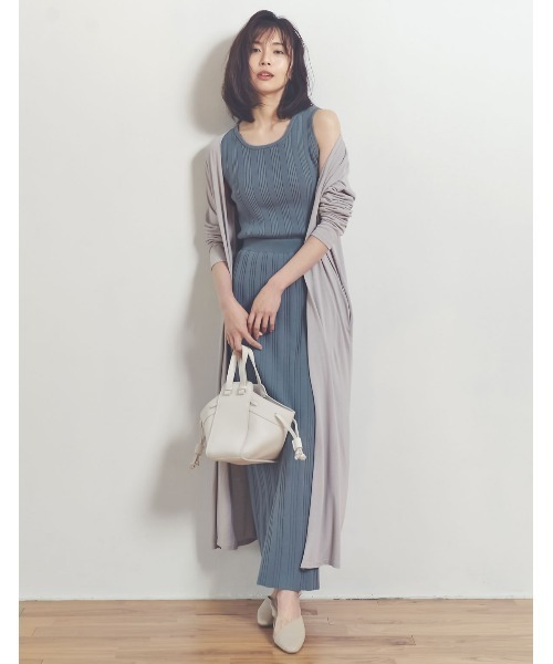 [Re:EDIT] [涼感][人と地球にやさしい][お家で洗える]オーガニックコットンバックスリットナロースカート