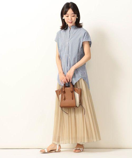 [SHIPS for women] SHIPS any:オーガンジープリーツスカート