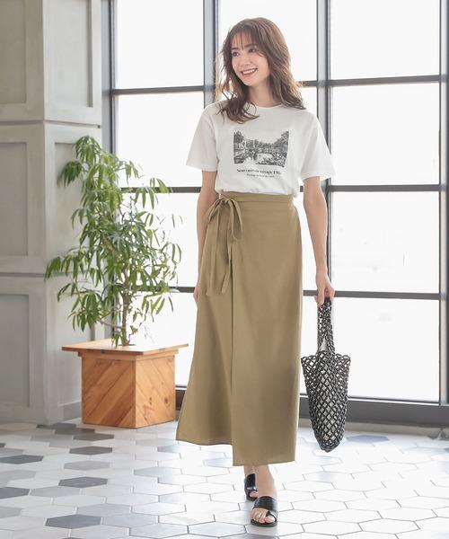 [kobelettuce] リネンブレンドラップスカート